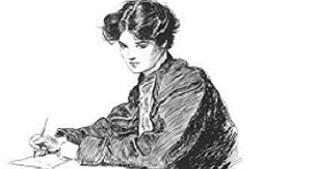 femme écrivant une lettre d'amour à un homme