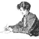 femme écrivant une lettre d'amour pour un homme